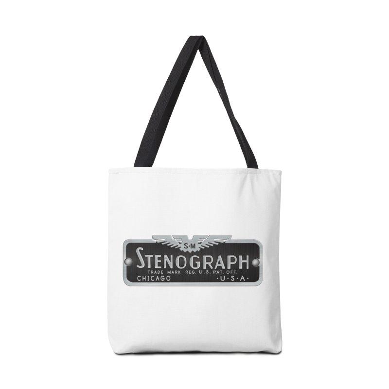 Stenograph Logo Accessories Tote Bag Bag by Stenograph's Artist Shop