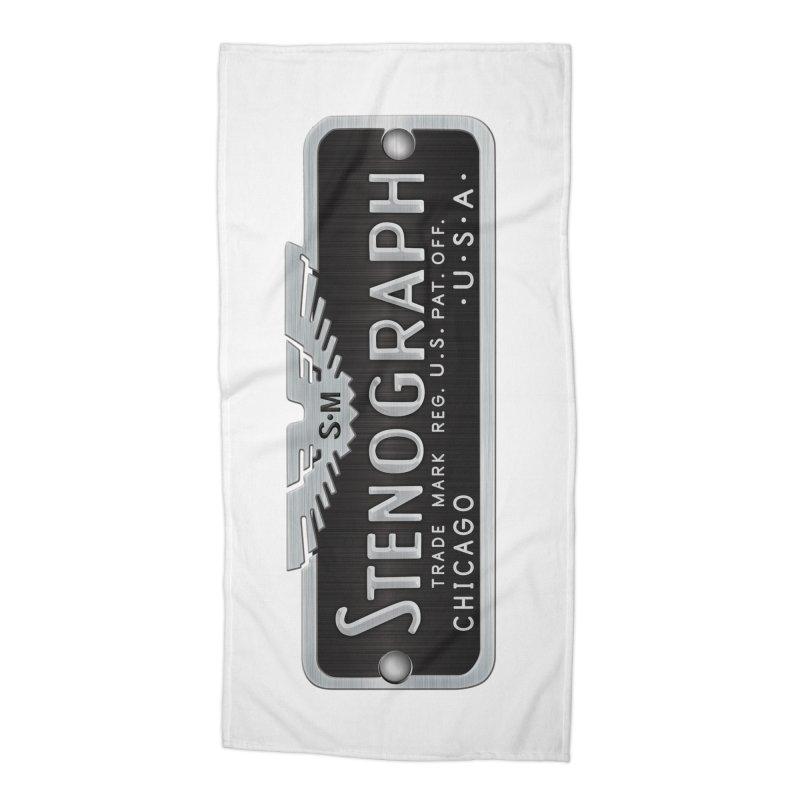Stenograph Logo: Vintage Accessories Beach Towel by Stenograph's Artist Shop
