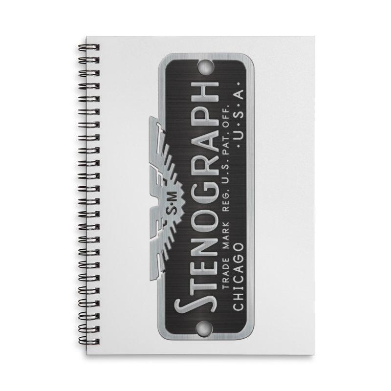Stenograph Logo: Vintage Accessories Lined Spiral Notebook by Stenograph's Artist Shop