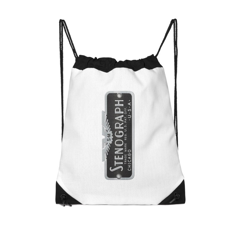 Stenograph Logo: Vintage Accessories Drawstring Bag Bag by Stenograph's Artist Shop