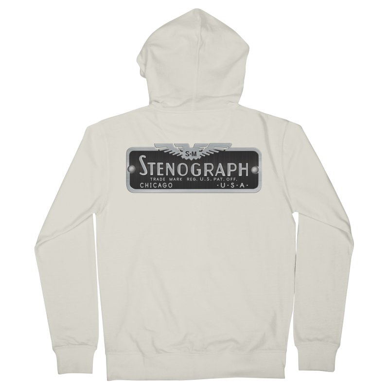 Vintage Logo Women's French Terry Zip-Up Hoody by Stenograph's Artist Shop