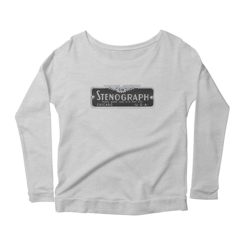 Vintage Logo Women's Scoop Neck Longsleeve T-Shirt by Stenograph's Artist Shop