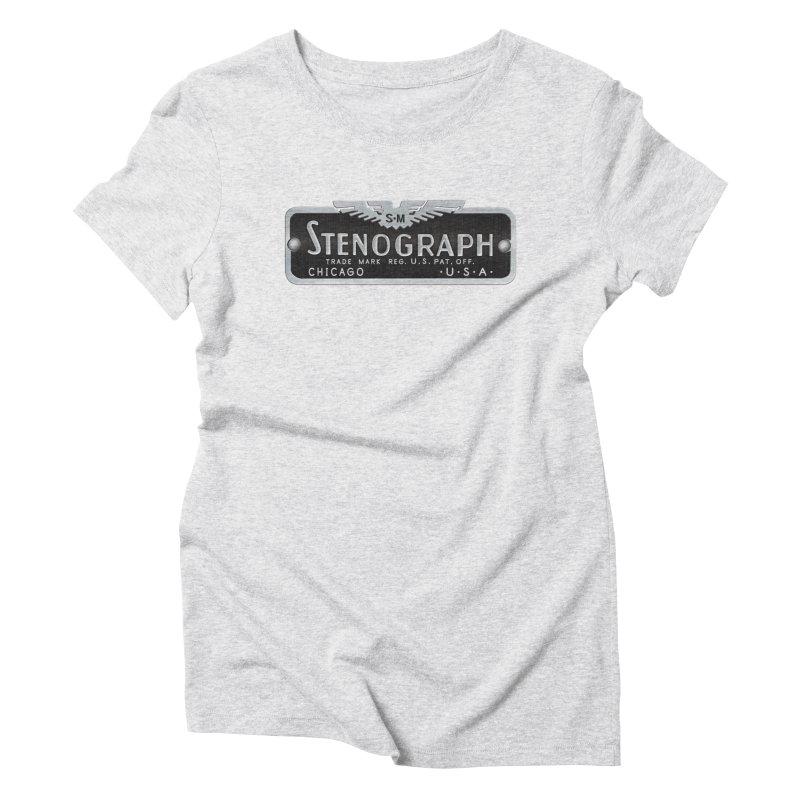 Vintage Logo Women's Triblend T-Shirt by Stenograph's Artist Shop