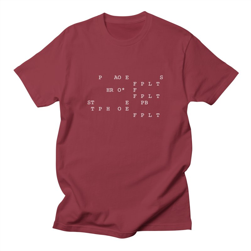 Peace.Love.Steno Men's Regular T-Shirt by Stenograph's Artist Shop