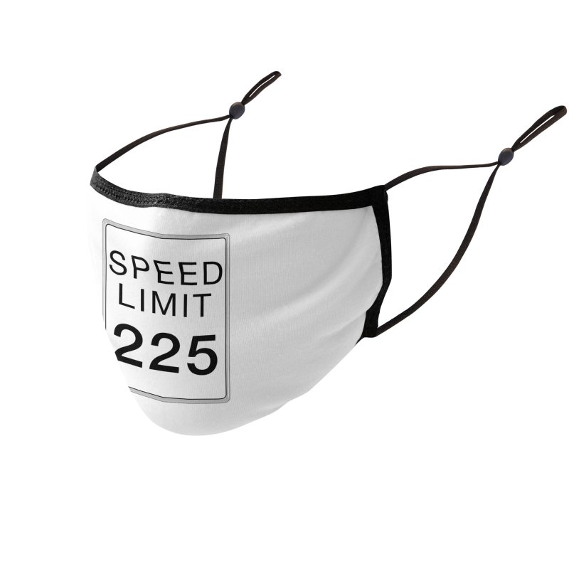Speed Limit 225 Accessories Face Mask by Stenograph's Artist Shop