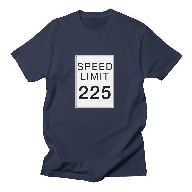 Speed Limit 225 in Men's Regular T-Shirt Navy by Stenograph's Artist Shop