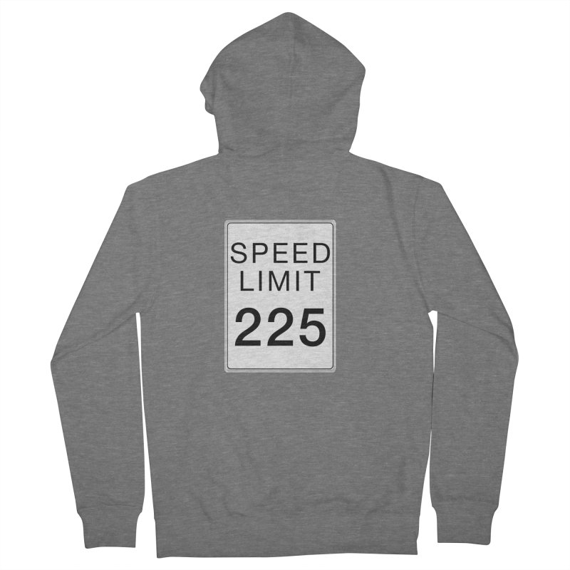 Speed Limit 225 Women's French Terry Zip-Up Hoody by Stenograph's Artist Shop