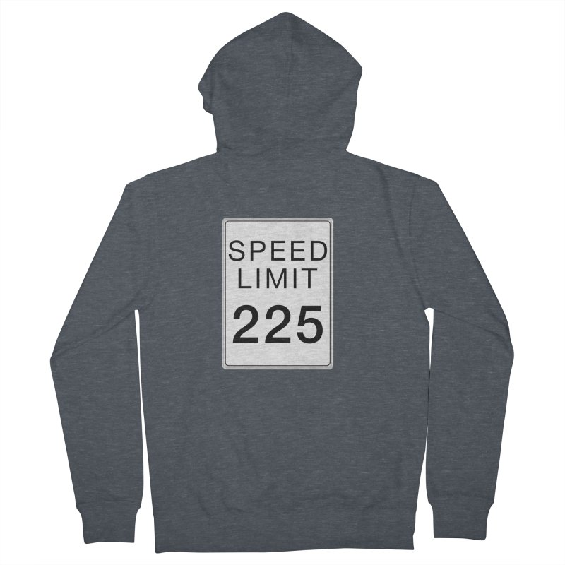 Speed Limit 225 Men's French Terry Zip-Up Hoody by Stenograph's Artist Shop