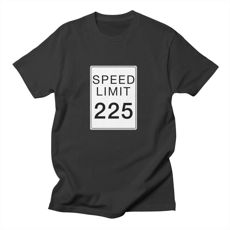 Speed Limit 225 Men's Regular T-Shirt by Stenograph's Artist Shop
