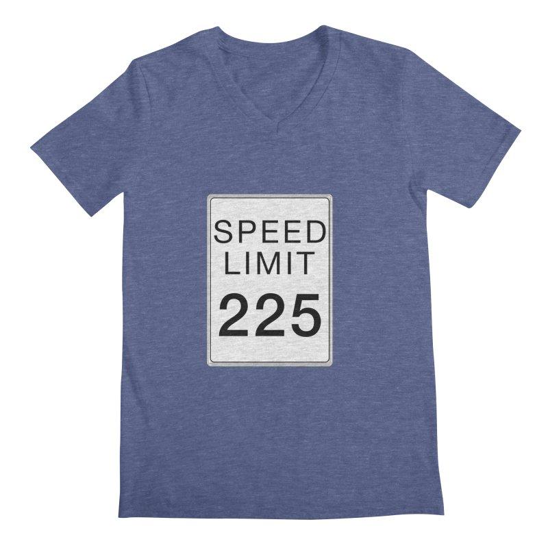 Speed Limit 225 Men's Regular V-Neck by Stenograph's Artist Shop