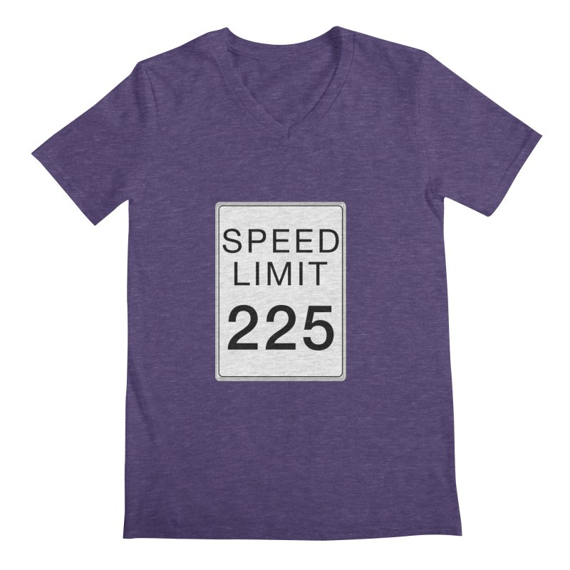 Speed Limit 225 Men's Regular V-Neck by Stenograph's Artist Shop