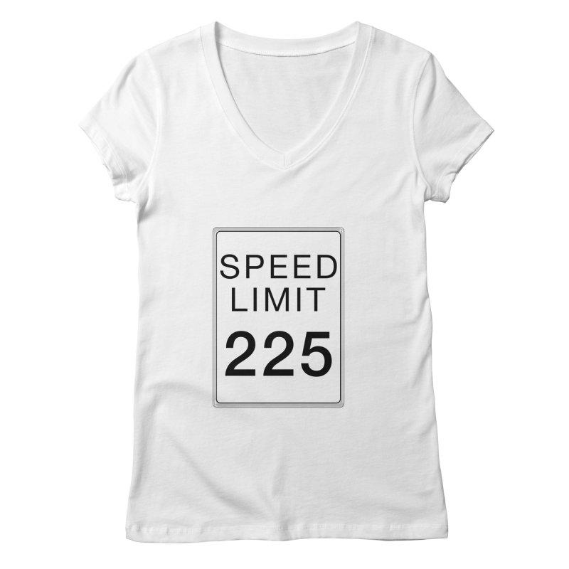 Speed Limit 225 Women's Regular V-Neck by Stenograph's Artist Shop