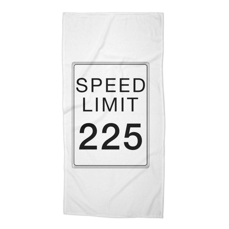 Speed Limit 225 Accessories Beach Towel by Stenograph's Artist Shop