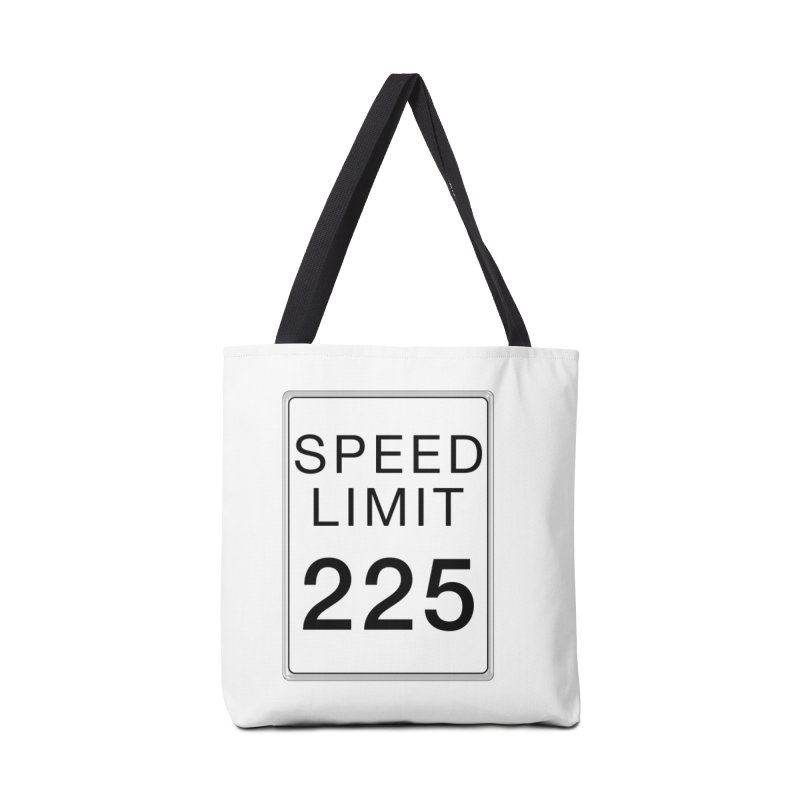 Speed Limit 225 Accessories Tote Bag Bag by Stenograph's Artist Shop