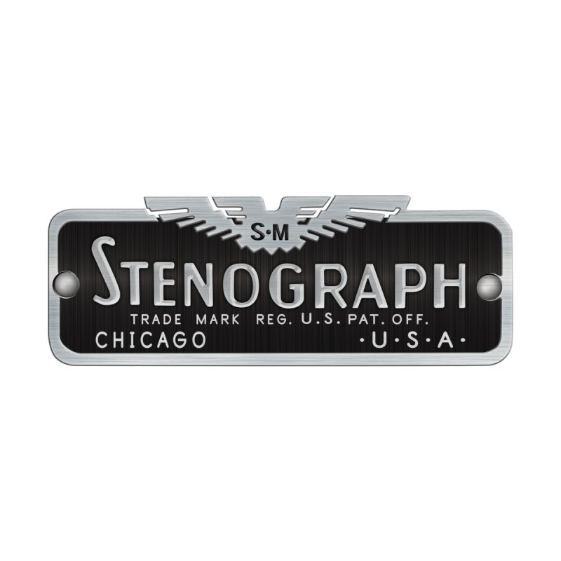 Stenograph Vintage Logo Men's T-Shirt by Stenograph's Artist Shop