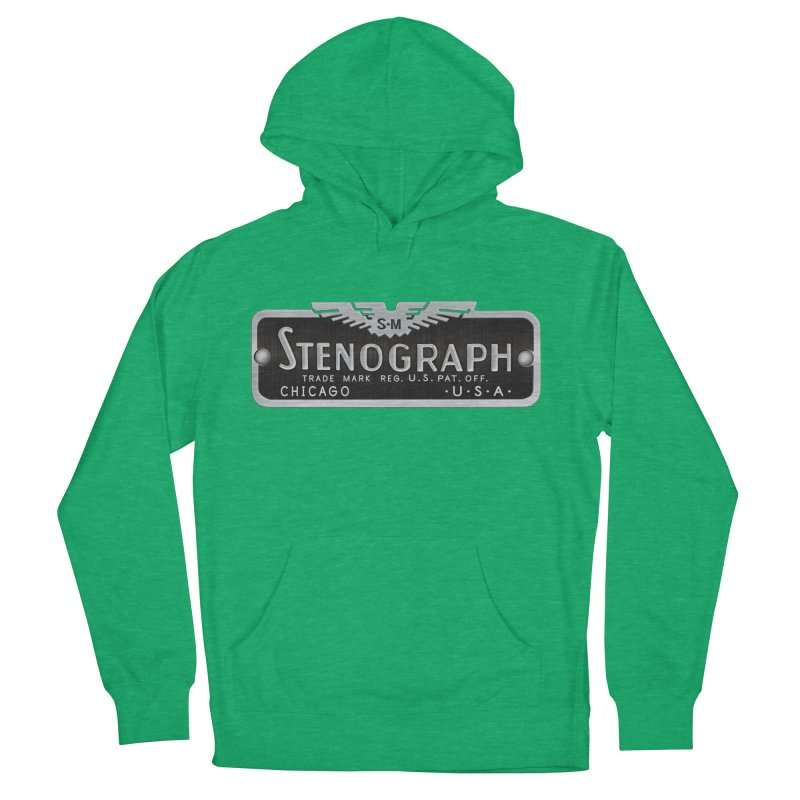 Stenograph Vintage Logo Men's French Terry Pullover Hoody by Stenograph's Artist Shop