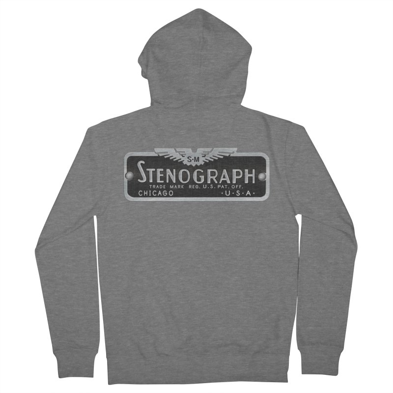 Stenograph Vintage Logo Men's French Terry Zip-Up Hoody by Stenograph's Artist Shop