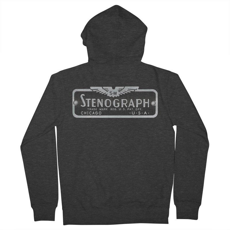 Stenograph Vintage Logo Men's Zip-Up Hoody by Stenograph's Artist Shop