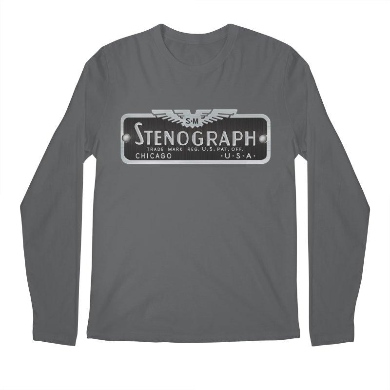 Stenograph Vintage Logo Men's Longsleeve T-Shirt by Stenograph's Artist Shop