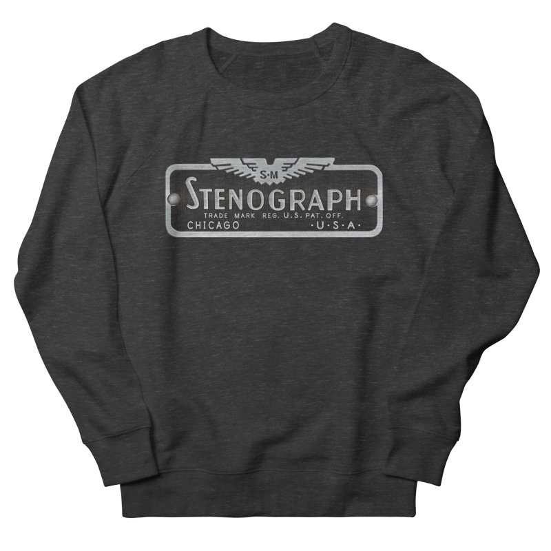 Stenograph Vintage Logo Men's French Terry Sweatshirt by Stenograph's Artist Shop