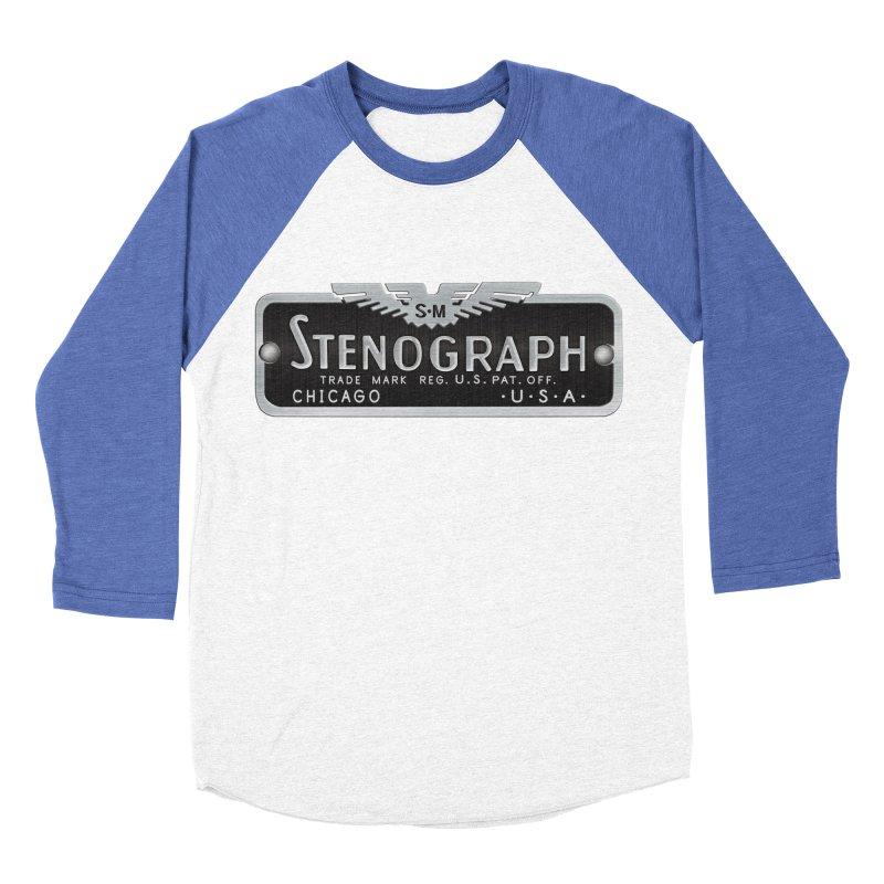 Stenograph Vintage Logo Men's Baseball Triblend Longsleeve T-Shirt by Stenograph's Artist Shop