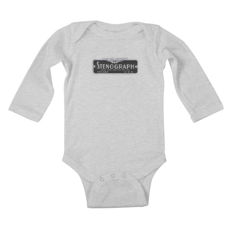 Stenograph Vintage Logo Kids Baby Longsleeve Bodysuit by Stenograph's Artist Shop