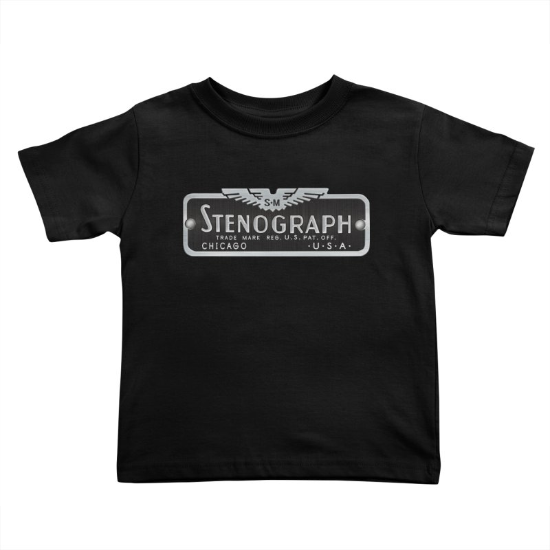 Stenograph Vintage Logo Kids Toddler T-Shirt by Stenograph's Artist Shop