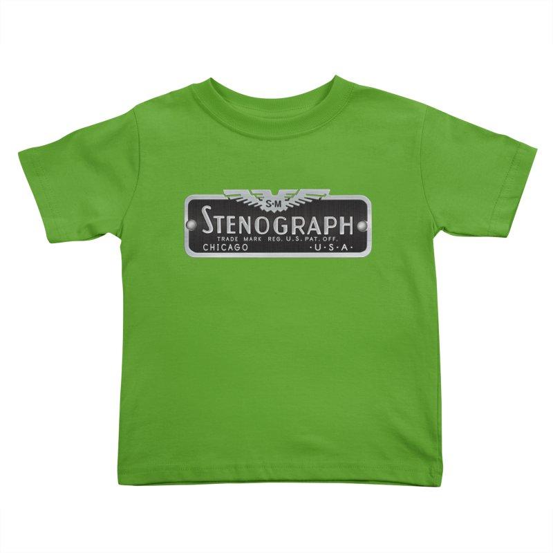 Stenograph Vintage Logo Kids Toddler T-Shirt by Stenograph's Artist Shop