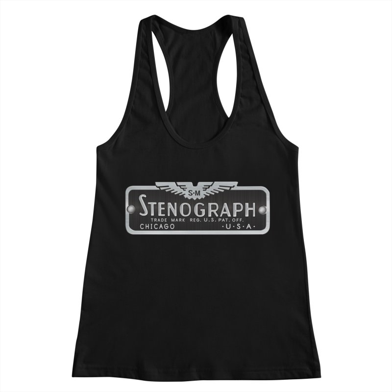 Stenograph Vintage Logo Women's Racerback Tank by Stenograph's Artist Shop