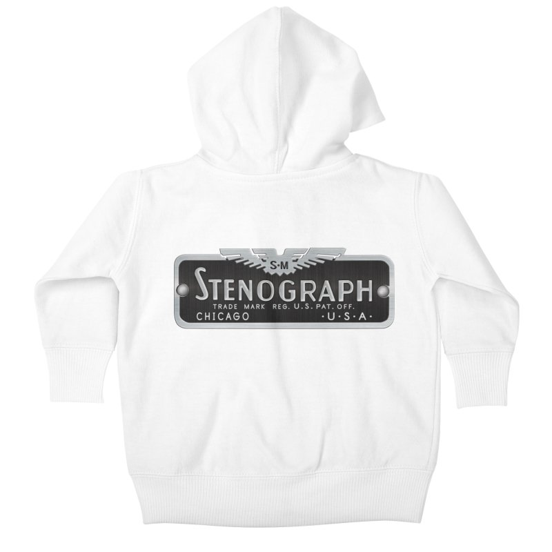 Stenograph Vintage Logo Kids Baby Zip-Up Hoody by Stenograph's Artist Shop