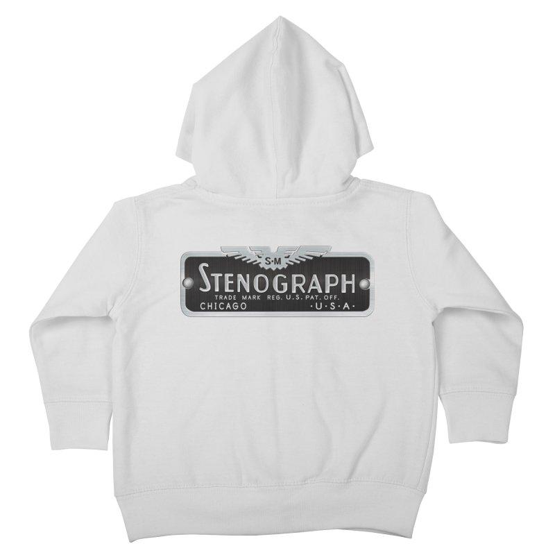 Stenograph Vintage Logo Kids Toddler Zip-Up Hoody by Stenograph's Artist Shop