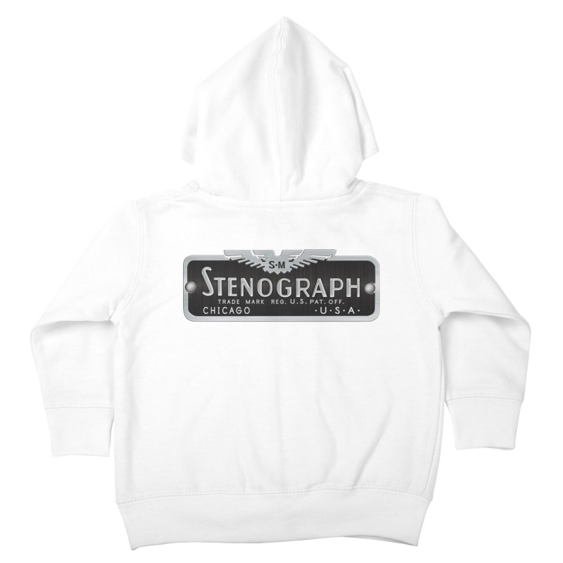 Stenograph Vintage Logo Kids Toddler Zip-Up Hoody by Stenograph's Artist Shop
