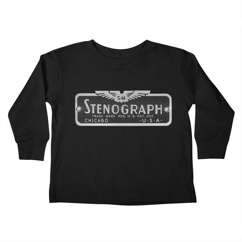 Stenograph Vintage Logo Kids Toddler Longsleeve T-Shirt by Stenograph's Artist Shop