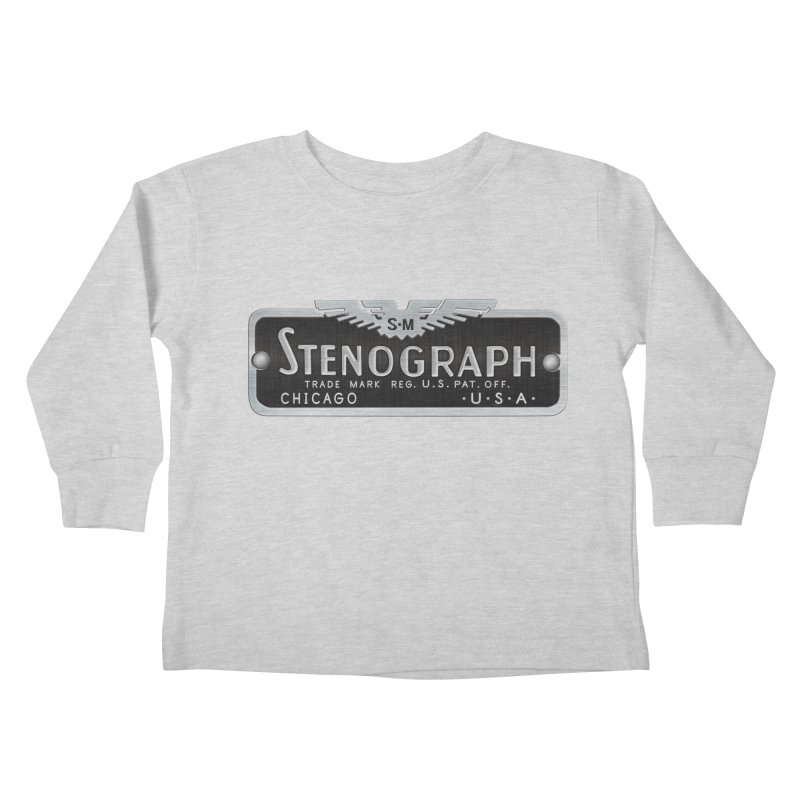 Stenograph Vintage Logo Kids Toddler Longsleeve T-Shirt by Stenograph's Artist Shop
