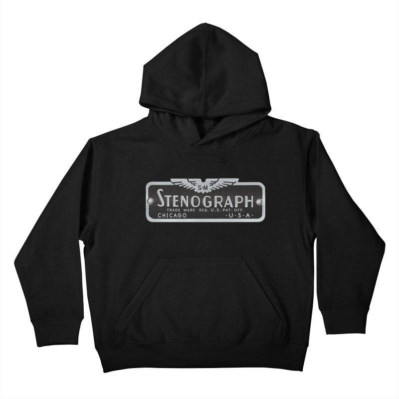 Stenograph Vintage Logo Kids Pullover Hoody by Stenograph's Artist Shop