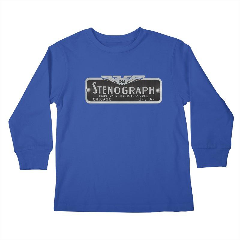Stenograph Vintage Logo Kids Longsleeve T-Shirt by Stenograph's Artist Shop