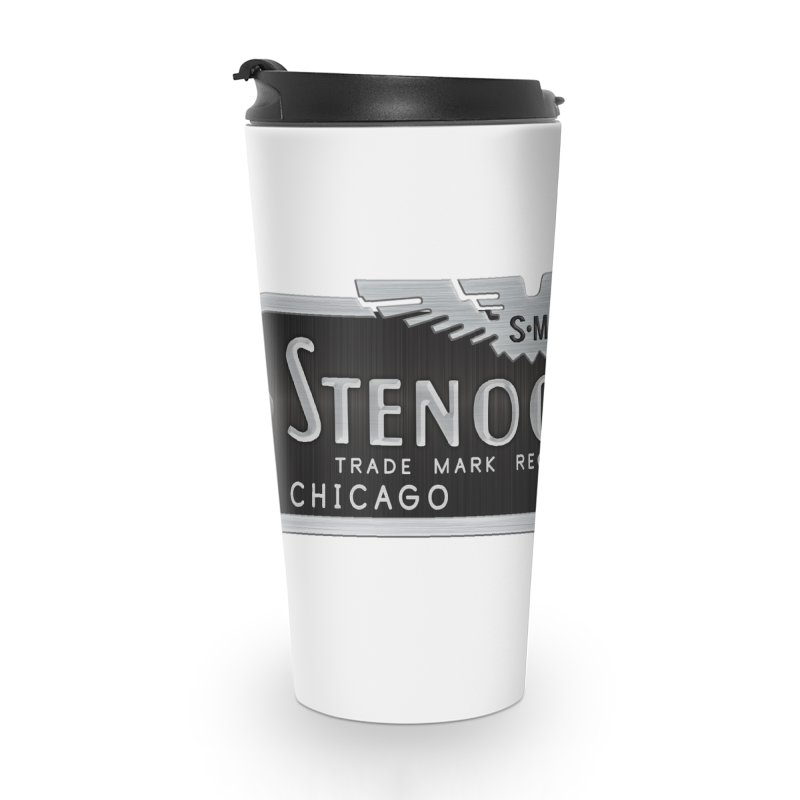 Stenograph Vintage Logo Accessories Travel Mug by Stenograph's Artist Shop