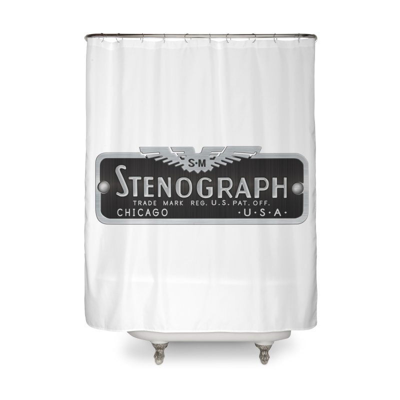 Stenograph Vintage Logo Home Shower Curtain by Stenograph's Artist Shop