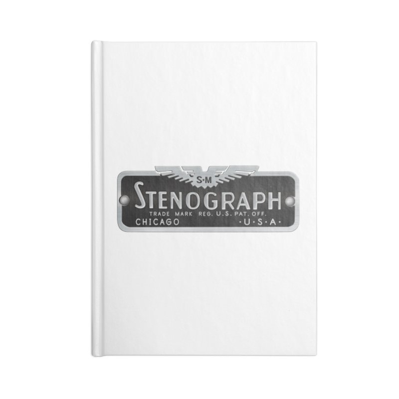 Stenograph Vintage Logo Accessories Lined Journal Notebook by Stenograph's Artist Shop