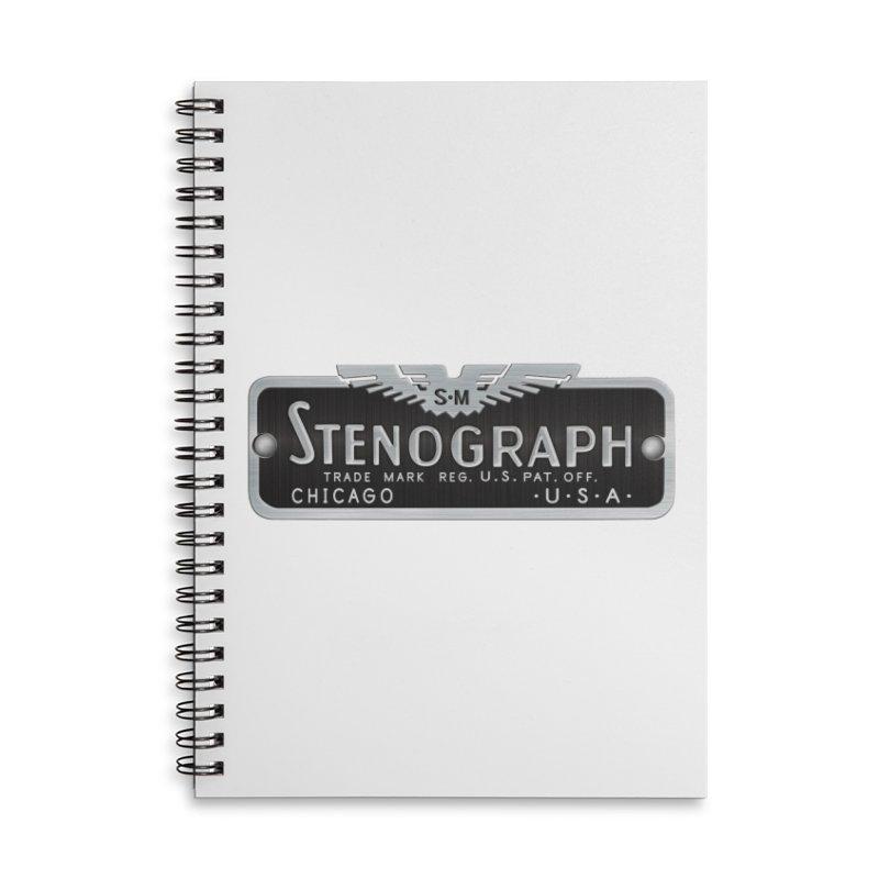 Stenograph Vintage Logo Accessories Lined Spiral Notebook by Stenograph's Artist Shop