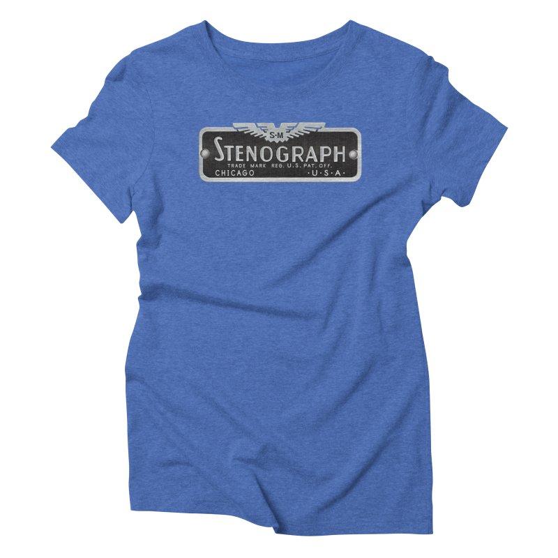Stenograph Vintage Logo Women's T-Shirt by Stenograph's Artist Shop