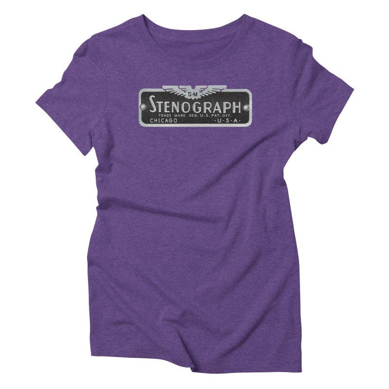 Stenograph Vintage Logo Women's Triblend T-Shirt by Stenograph's Artist Shop