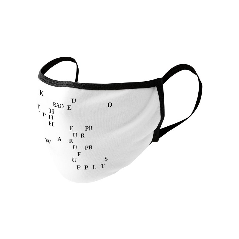 """Can you read this? Then you're one of us"" Accessories Face Mask by Stenograph's Artist Shop"