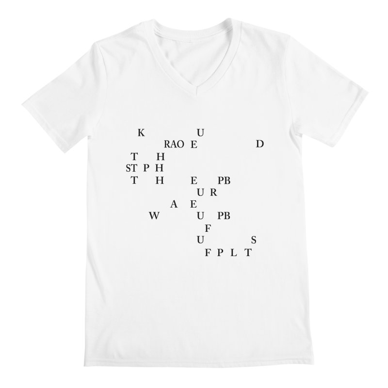 """""""Can you read this? Then you're one of us"""" Men's V-Neck by Stenograph's Artist Shop"""