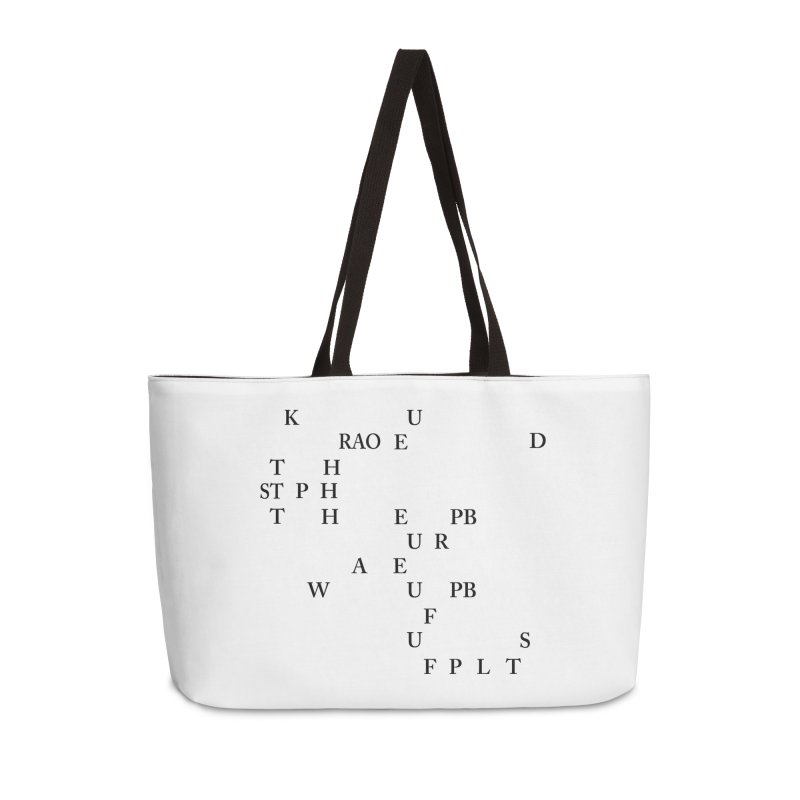 """Can you read this? Then you're one of us"" Accessories Weekender Bag Bag by Stenograph's Artist Shop"