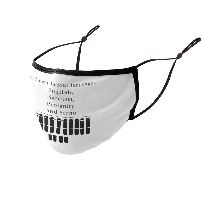Fluent in Four Languages Accessories Face Mask by Stenograph's Artist Shop