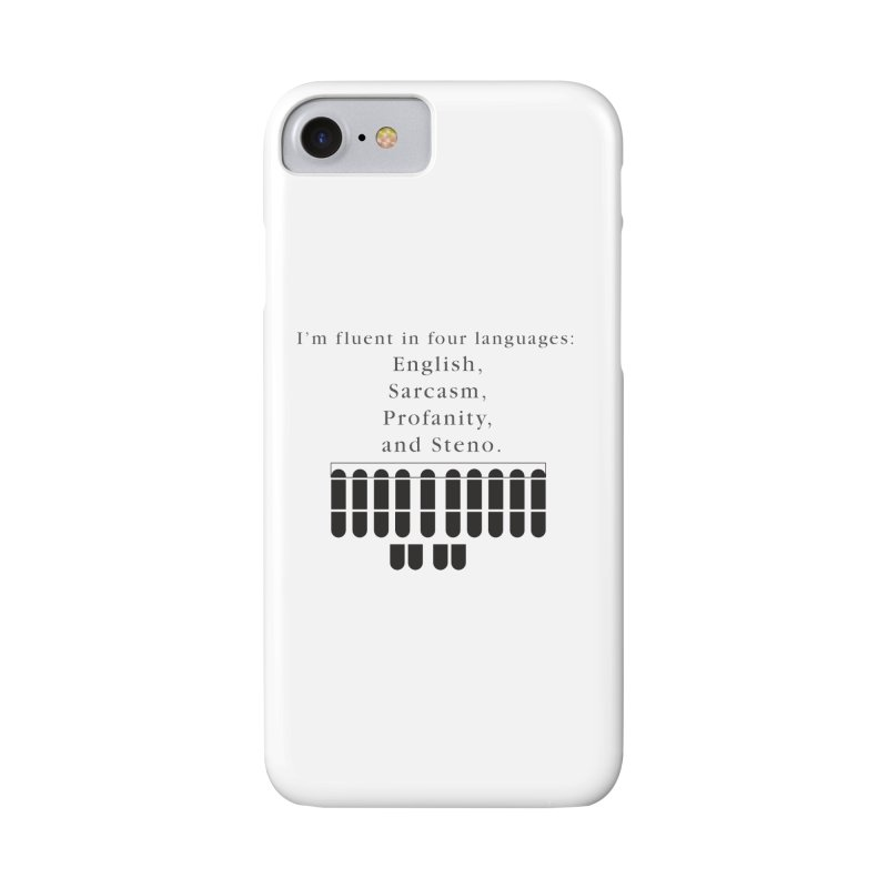 Fluent in Four Languages Accessories Phone Case by Stenograph's Artist Shop