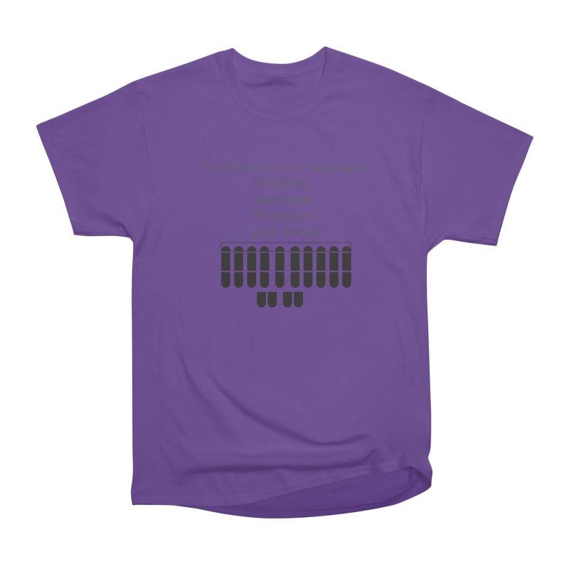 Fluent in Four Languages Women's Heavyweight Unisex T-Shirt by Stenograph's Artist Shop