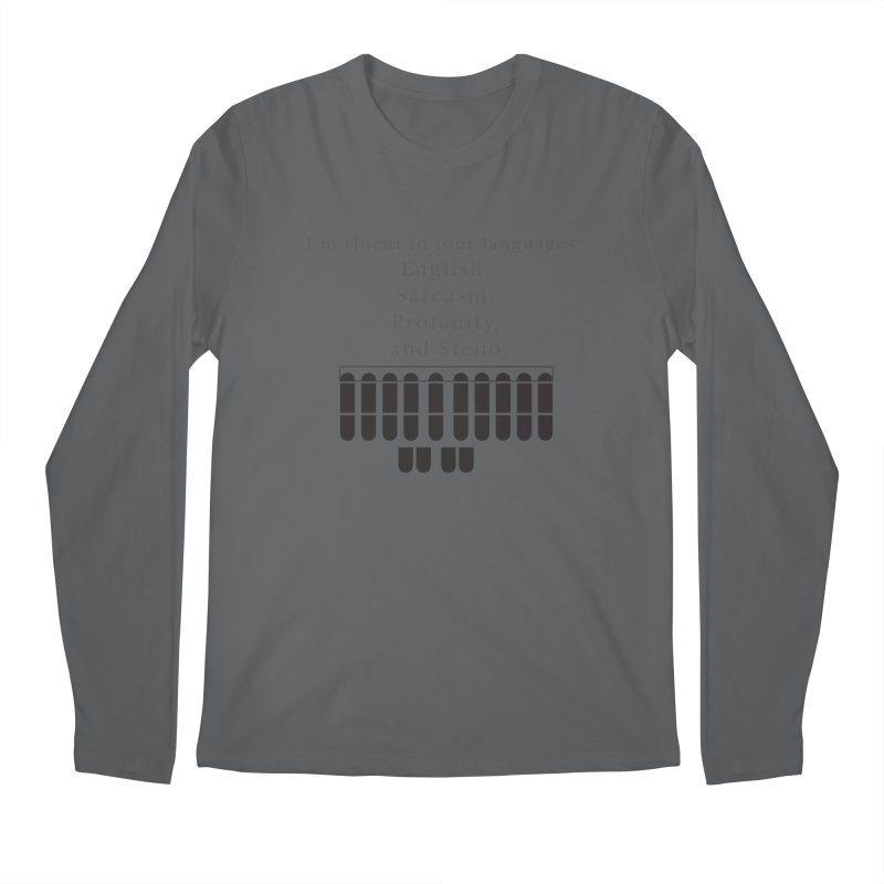 Fluent in Four Languages Men's Regular Longsleeve T-Shirt by Stenograph's Artist Shop