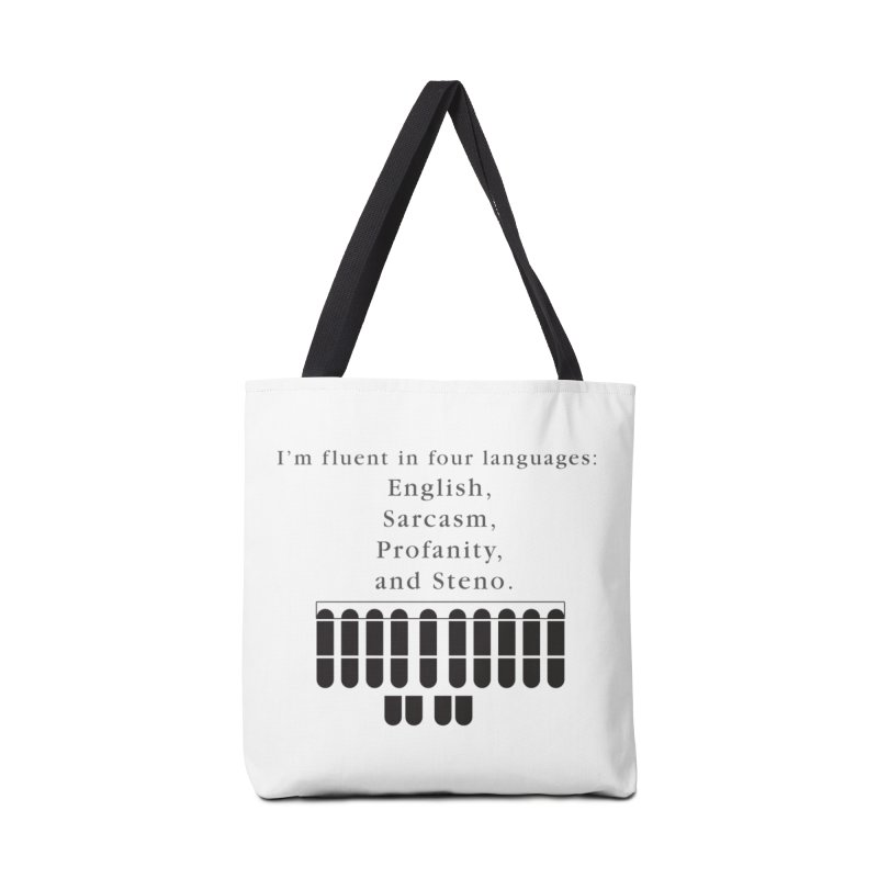 Fluent in Four Languages Accessories Tote Bag Bag by Stenograph's Artist Shop